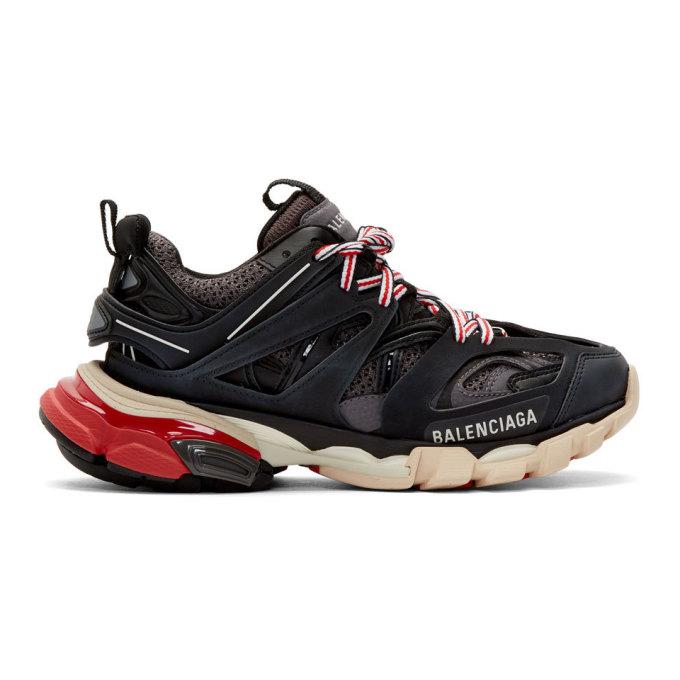 Balenciaga Black and Grey Track Sneakers