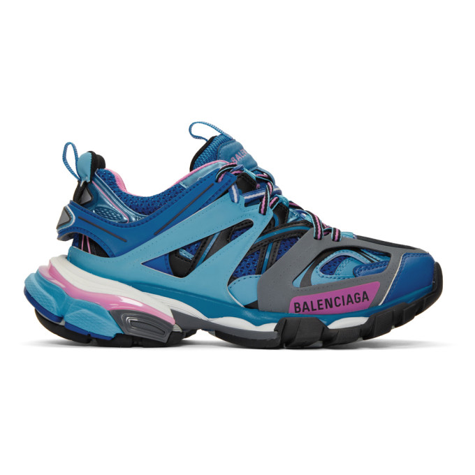 Balenciaga Blue & Pink Track Sneakers
