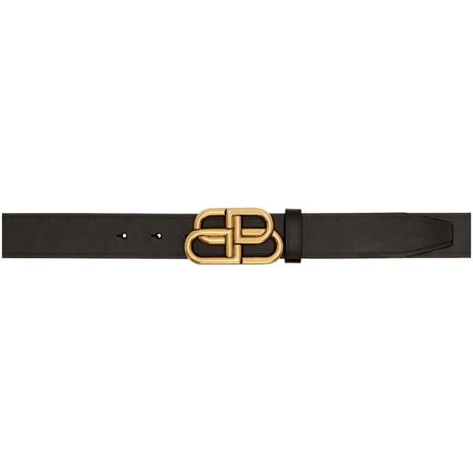 BALENCIAGA | Balenciaga Black And Gold BB Buckle Belt | Goxip