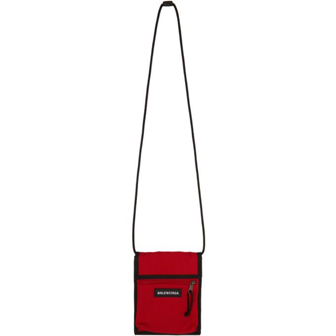 Balenciaga Red Explorer Strap Pouch