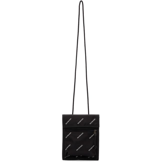 Balenciaga Black Explorer Logo Pouch