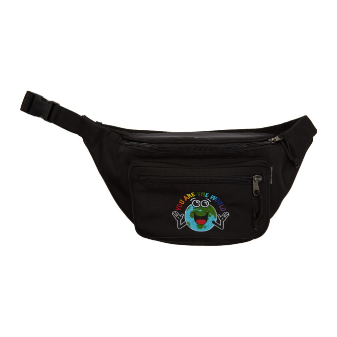 Balenciaga Black 'You Are The World' Explorer Belt Pouch