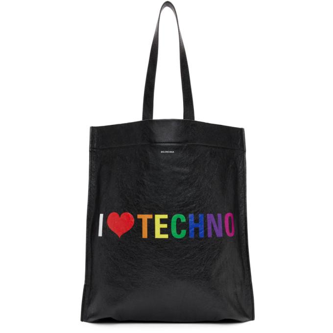 Balenciaga Black 'I Love Techno' Tote