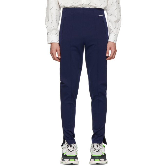 Balenciaga Navy Track Lounge Pants