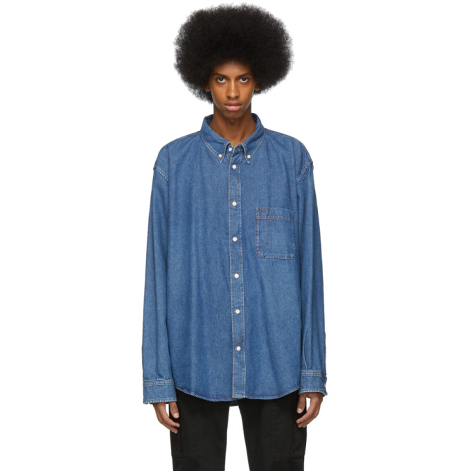 Balenciaga ブルー デニム シャツ