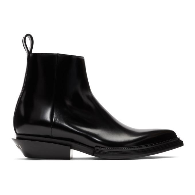 BALENCIAGA | Balenciaga Black Santiag Boots | Goxip