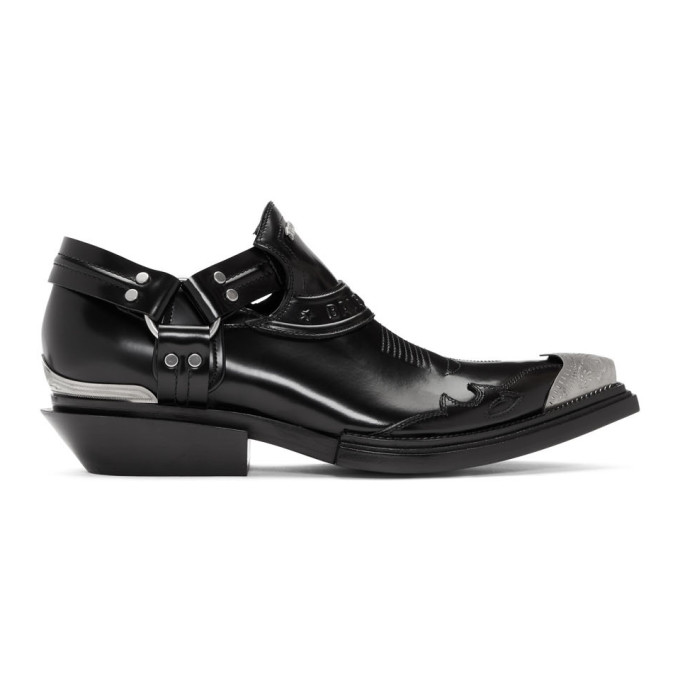 BALENCIAGA   Balenciaga Black Low Santiag Harness Boots   Goxip