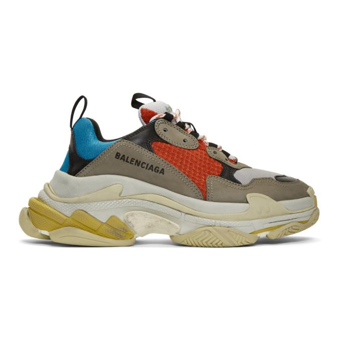 Balenciaga Multicolor Triple S Sneakers