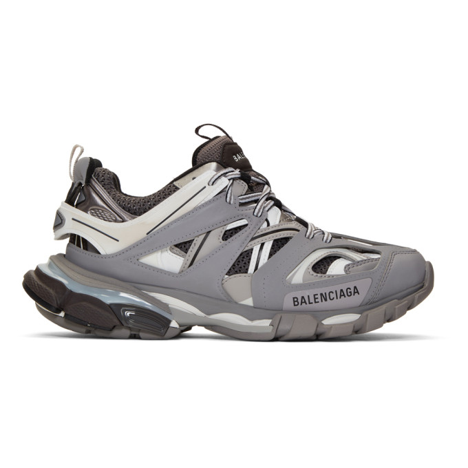 Balenciaga Grey & White Track Sneakers