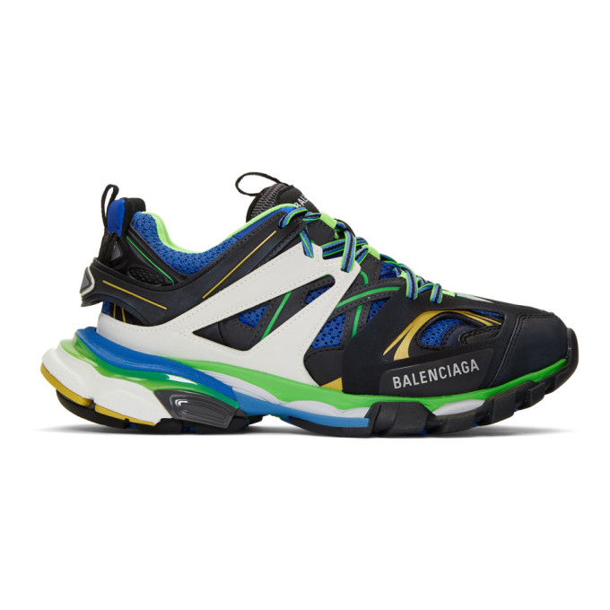 Balenciaga Black & Blue Track Sneakers