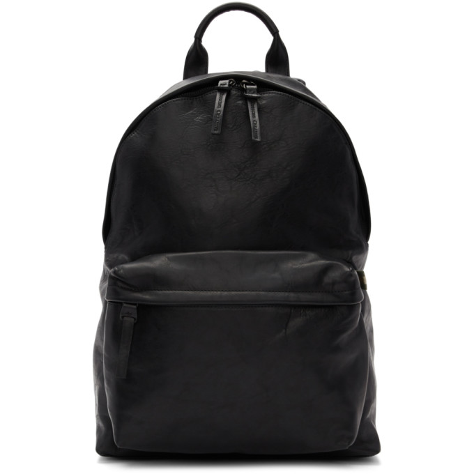 Officine Creative Black Novak Backpack