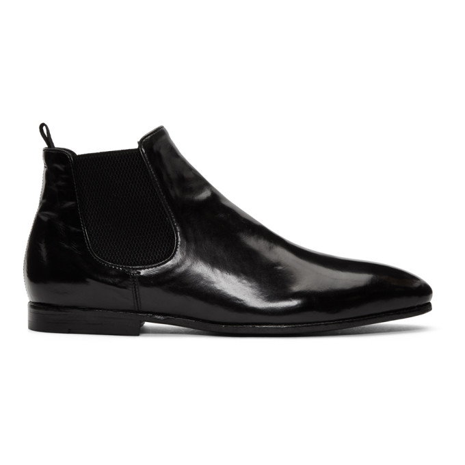 Officine Creative Black Revien 3 Chelsea Boots