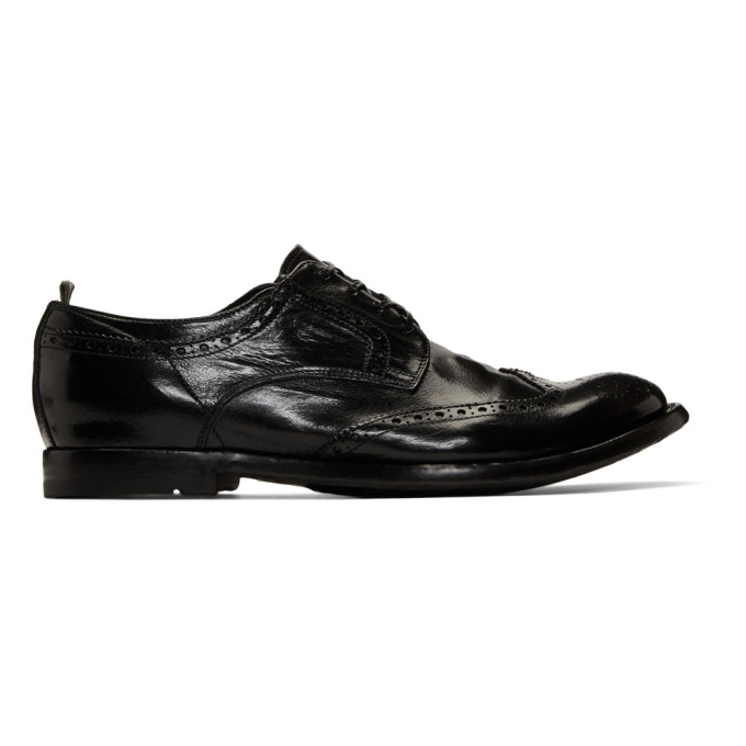 Officine Creative Black Anatomia 3 Brogues