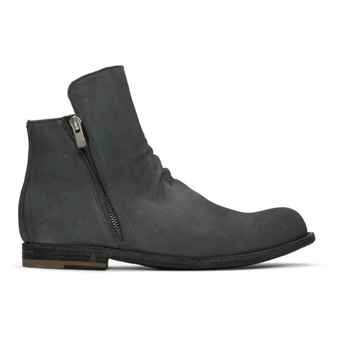 Officine Creative Grey 'Laboratorio' Bubble 68 Chelsea Boots