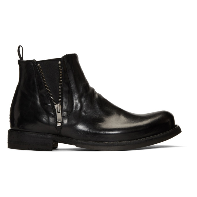 Officine Creative Black Ikon 39 Chelsea Boots