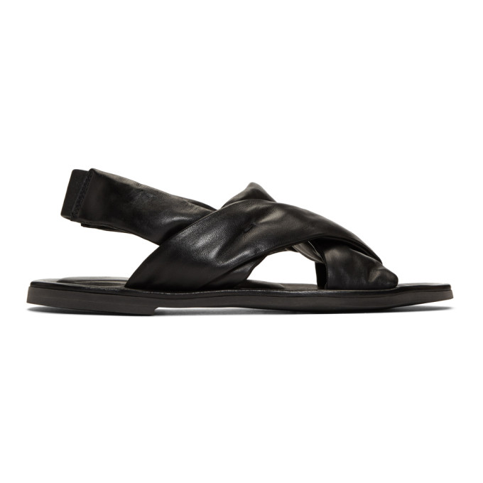 Officine Creative Black Achiles 2 'Laboratorio' Sandals