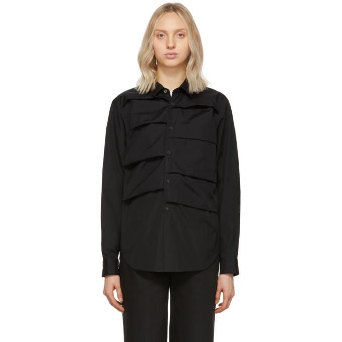 Image of Comme des Garçons Homme Plus Black Box Pleat Shirt