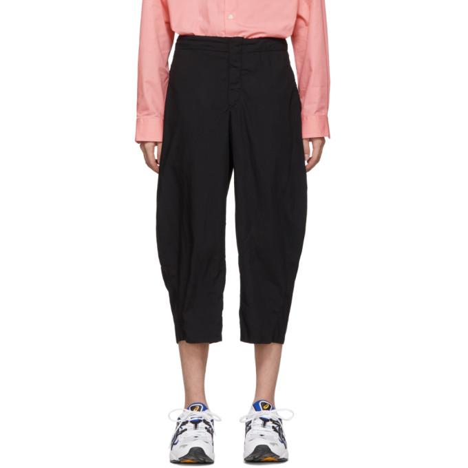 Image of Comme des Garçons Homme Plus Black Broadcloth Trousers