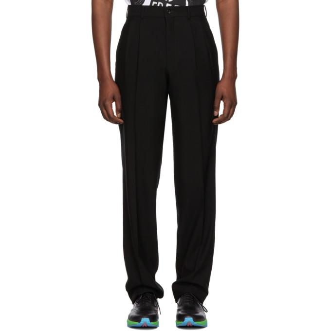 Image of Comme des Garçons Homme Plus Black Cashmere & Wool Barathea Trousers