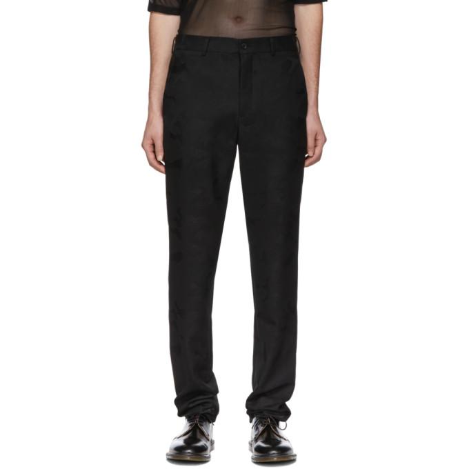 Image of Comme des Garçons Homme Plus Black Camo Trousers
