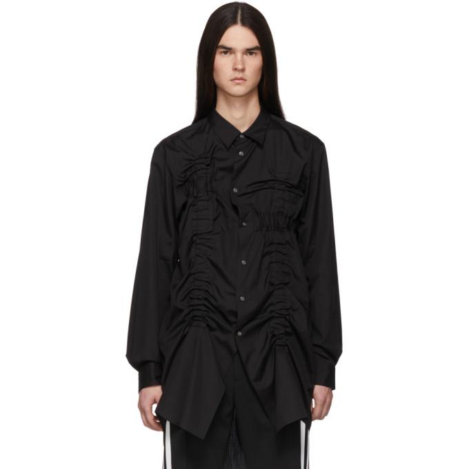 Image of Comme des Garçons Homme Plus Black Bunched-Up Shirt