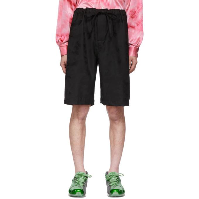 Image of Comme des Garçons Homme Plus Black Camo Shorts