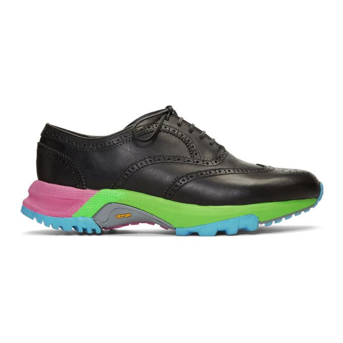 Comme Des Garçons Homme Deux Shoes COMME DES GARCONS HOMME PLUS BLACK WINGTIP BROGUES