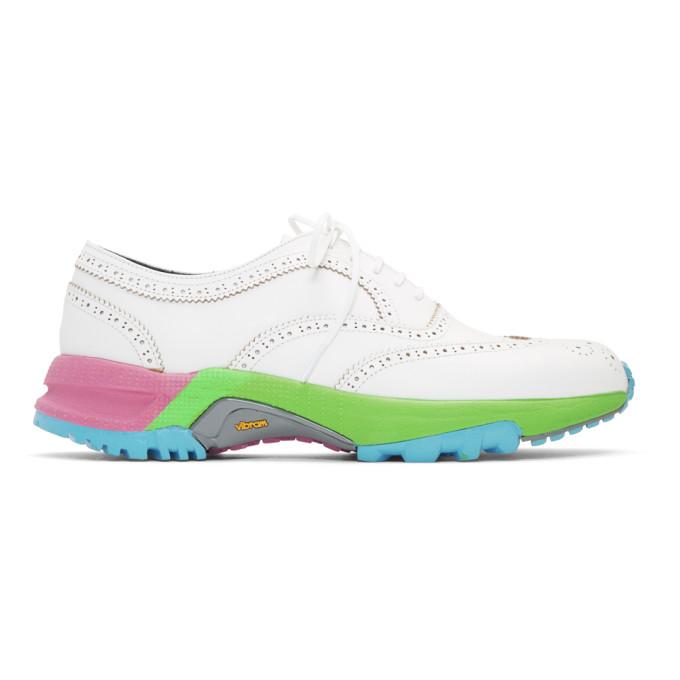 Comme Des Garçons Homme Deux Shoes COMME DES GARCONS HOMME PLUS WHITE WINGTIP BROGUES