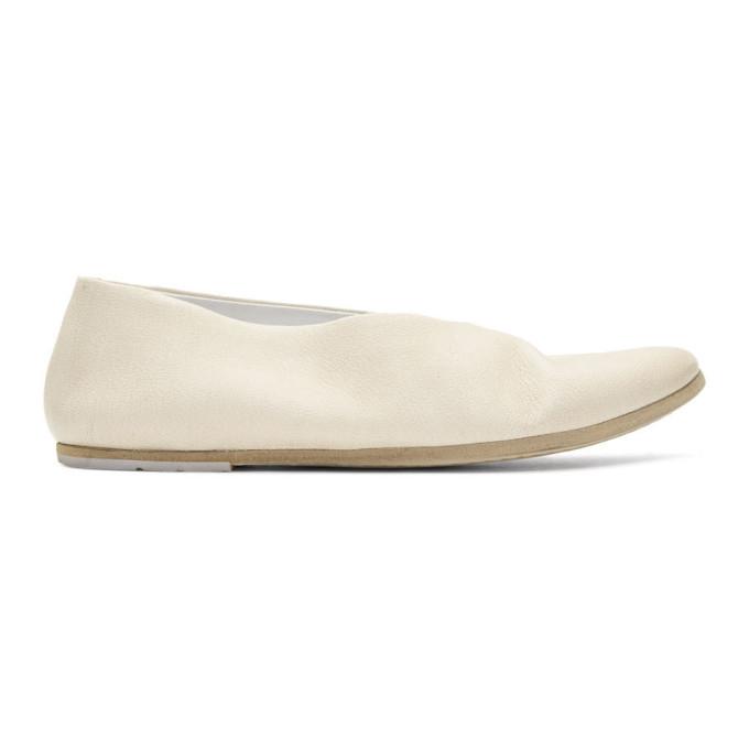 Marsèll White Coltellaccio Ballerina Flats