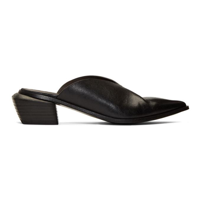 Marsèll Black Sabot Heel Mules