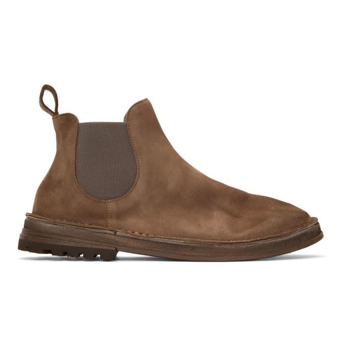 Marsèll Brown Suede Fungaccia Chelsea Boots