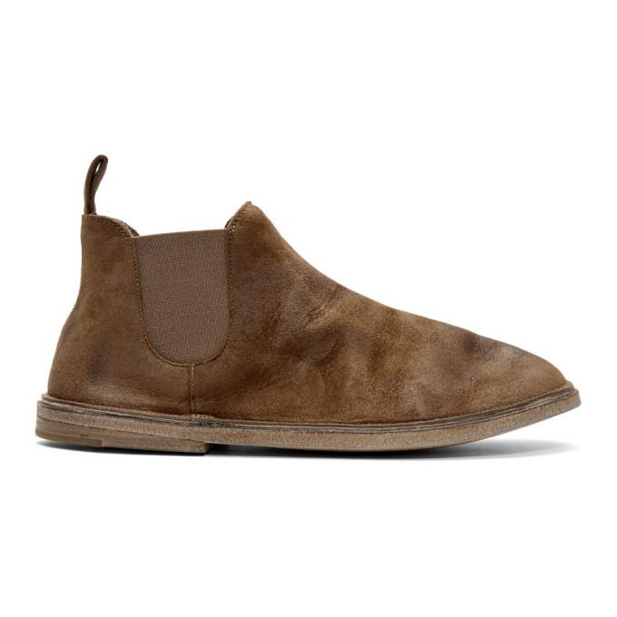 Marsèll Brown Suede Beatles Boots