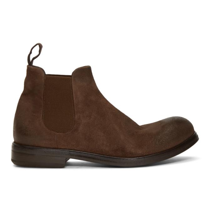 Marsèll Brown Suede Zucca Media Beatles Boots
