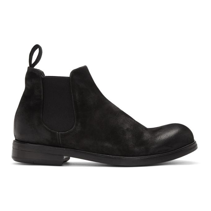 Marsèll Black Suede Zucca Media Beatles Boots