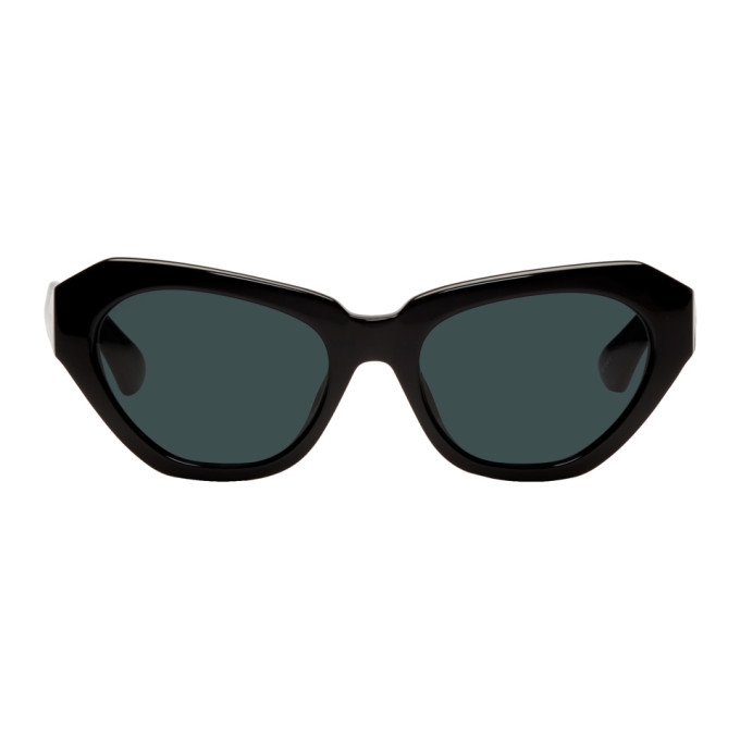 Dries Van Noten Black Linda Farrow Edition 166 C7 Cat-Eye Sunglasses