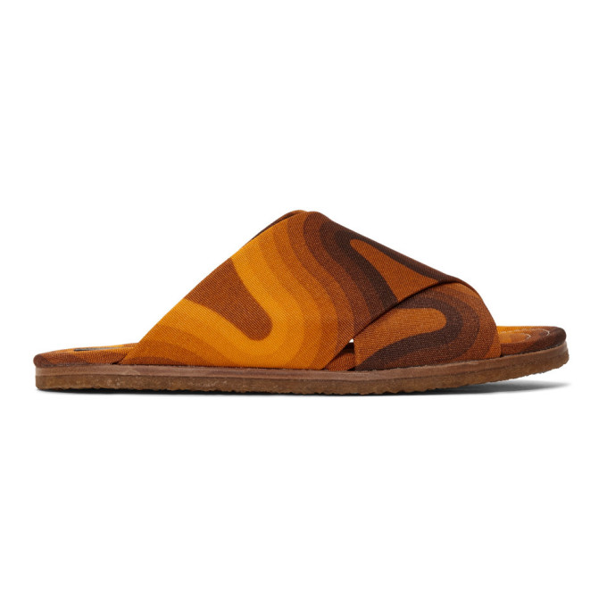 Dries Van Noten Orange Verner Panton Edition Wave Slides