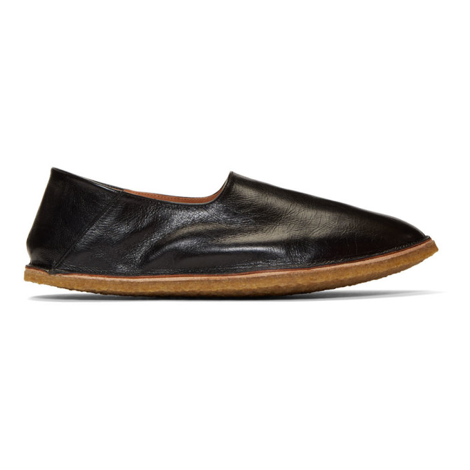 Dries Van Noten Black Crush Back Loafers
