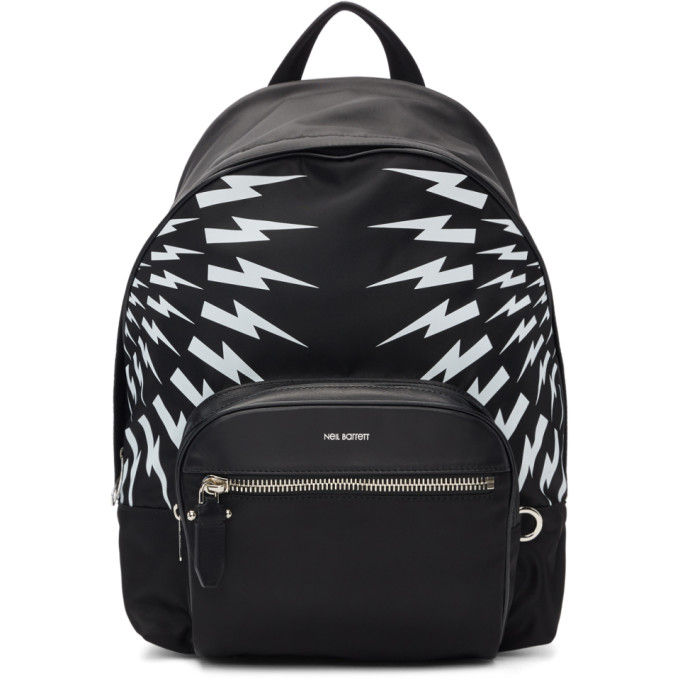 Neil Barrett Black & White Dual Multi Bolt Backpack
