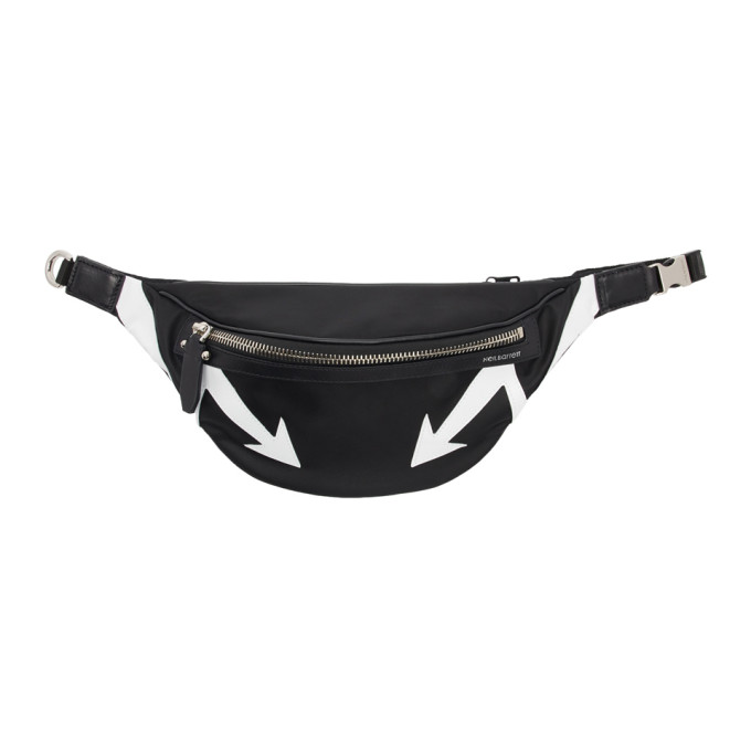 Neil Barrett Black Arrows Waist Pouch