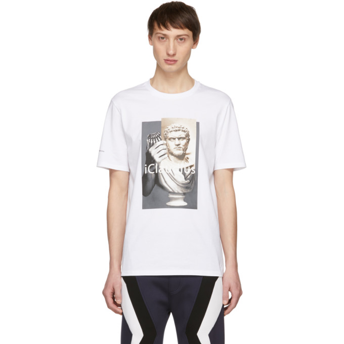 NEIL BARRETT Iclaudius T-Shirt in 1413 White