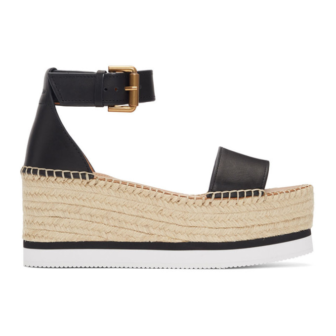 See by Chloe Black Glyn Espadrilles Sandals