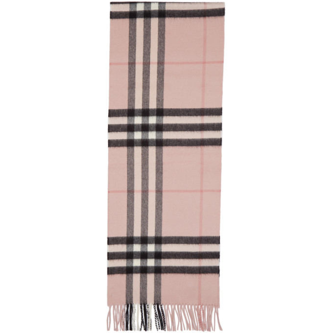 Burberry Giant Check Cashmere Scarf, Rose In Pink | ModeSens