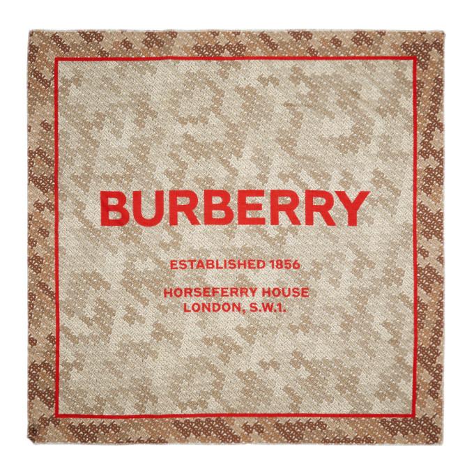 Burberry Foulard carre beige Monogram Camo