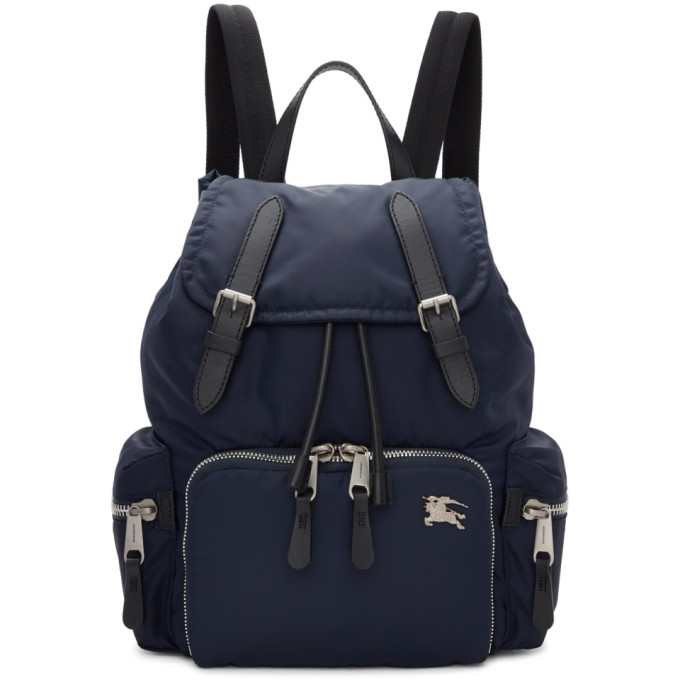 Burberry Navy Medium Puffer Crossbody Backpack