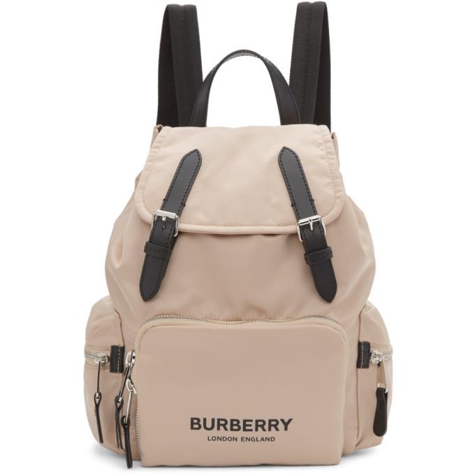 Burberry Pink Nylon Medium Rucksack