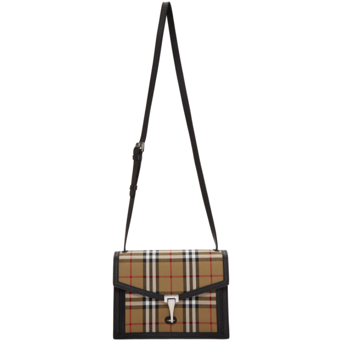 Burberry Black Small Vintage Check Macken Bag