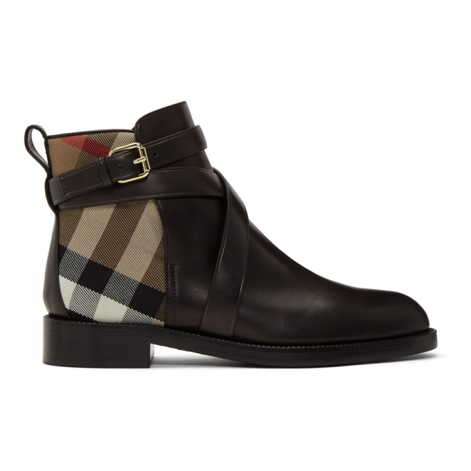 Burberry Black Pryle Boots