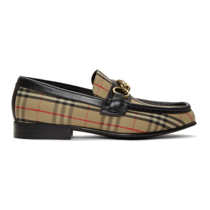 Image of Burberry Beige 1983 Check Moorley Loafers