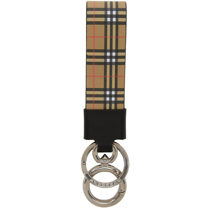Burberry Multicolor Vintage Check Mini Charm Keychain