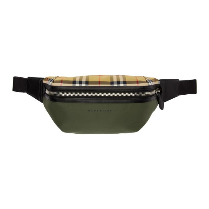 1d72521dfccc Burberry Green Medium Vintage Check Sonny Bum Bag